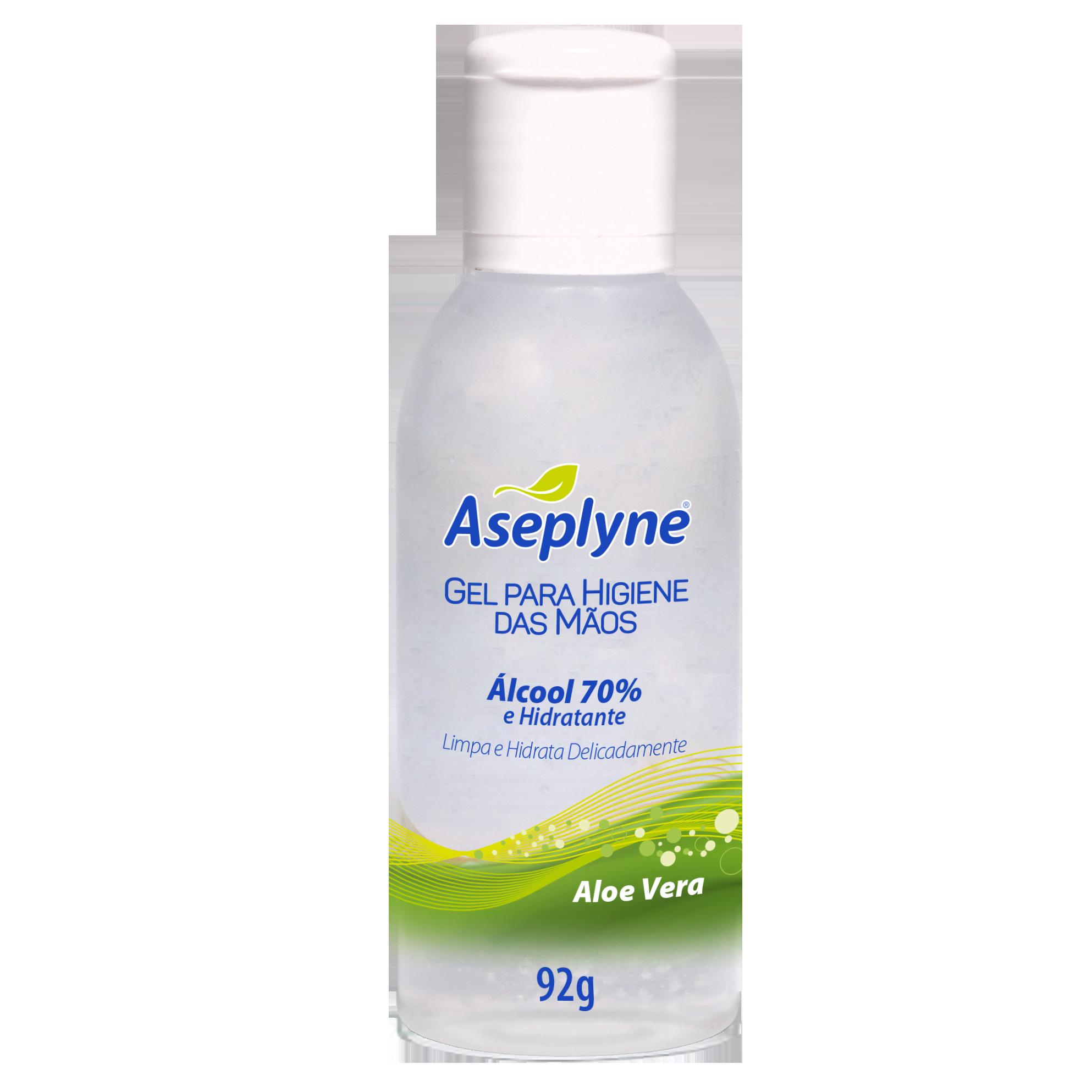 Gel Higiene Mãos Aseplyne Aloe Vera 92g